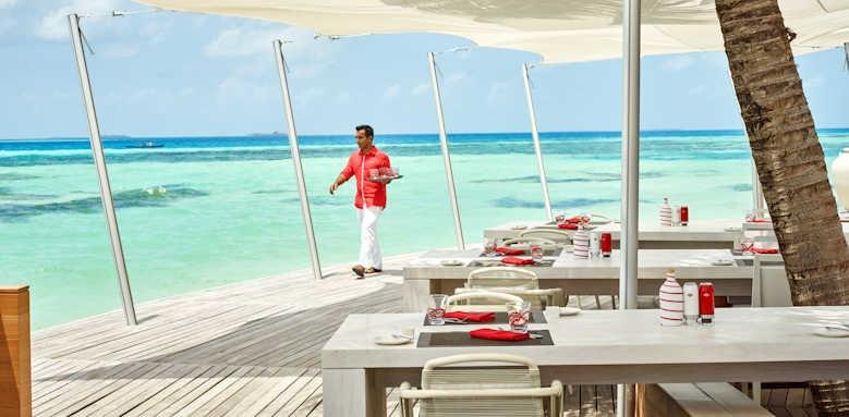 LUX South Ari Atoll, beach dining