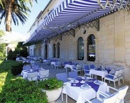Korcula de la Ville, restaurant terrace