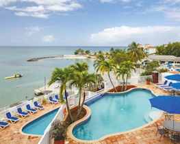 windjammer landing villa beach resort, main pool and beach