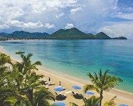 the landings resort & spa, beach aerial view