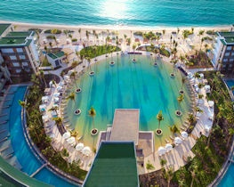 Haven Riviera, pool and beach view