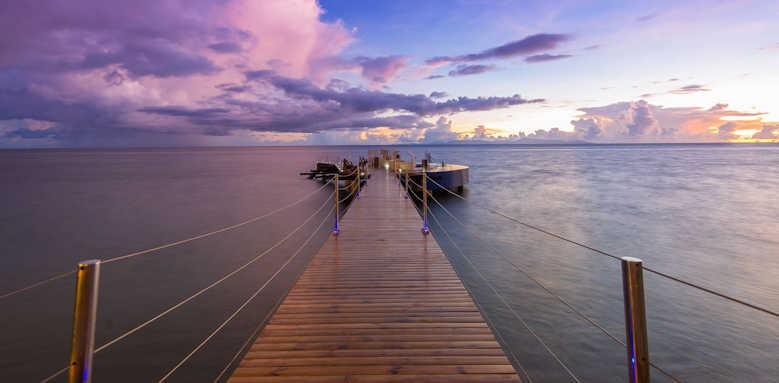 Coco de Mer Hotel & Black Parrot Suites, sunset over jetty