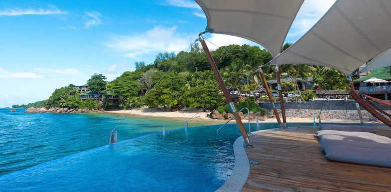 Coco de Mer Hotel & Black Parrot Suites, view from jetty