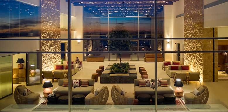Marbella Elix, lobby at sunset