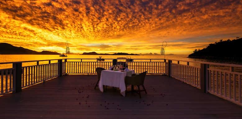 Hotel L'Archipel, sunset