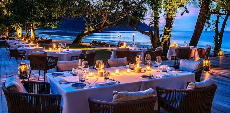 The Datai, beach dining