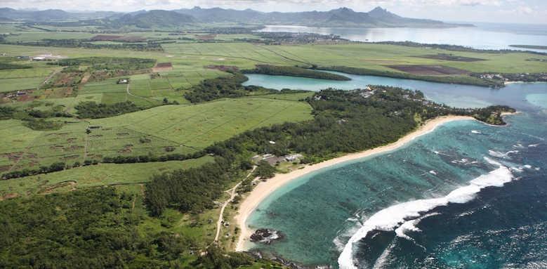 Anantara Iko Mauritius, aerial view