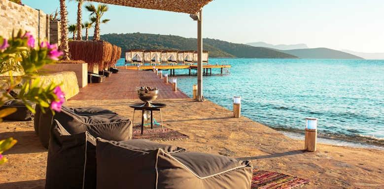 Le Meridien Bodrum Beach Resort, beach area
