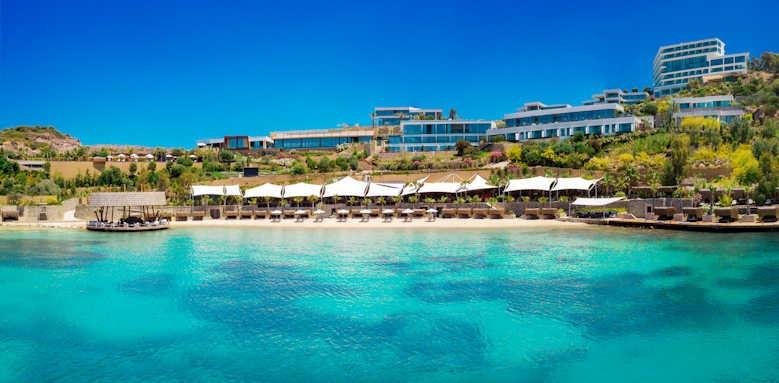 Le Meridien Bodrum Beach Resort, view from water