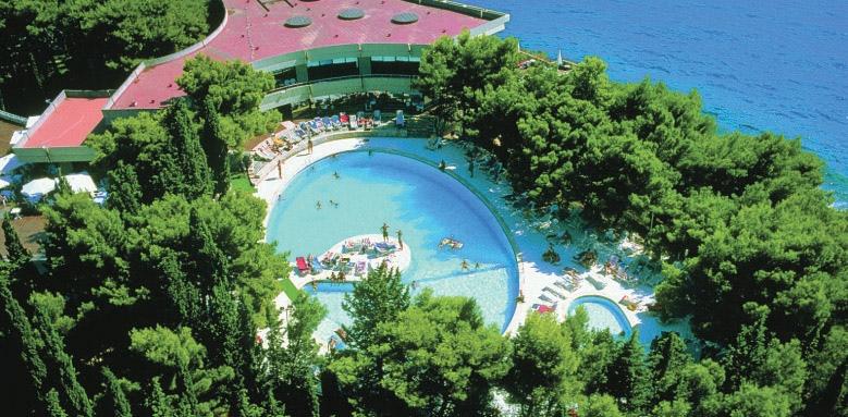 Hotel Croatia, aerial view of pool