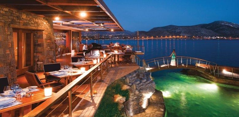 Grand Resort Lagonissi, Captains house restaurant terrace