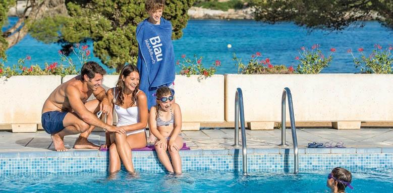 Blau porto petro resort, family in pool