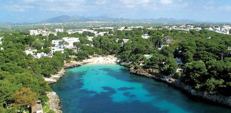 Cala d'or, distant aerial view