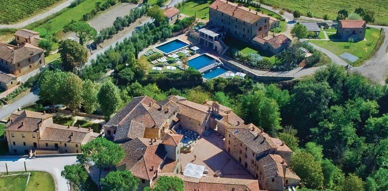 Castel Monastero, aerial view