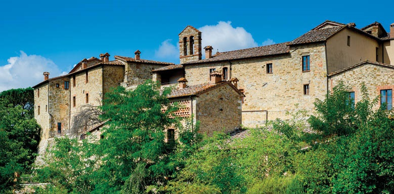 Castel Monastero, exterior