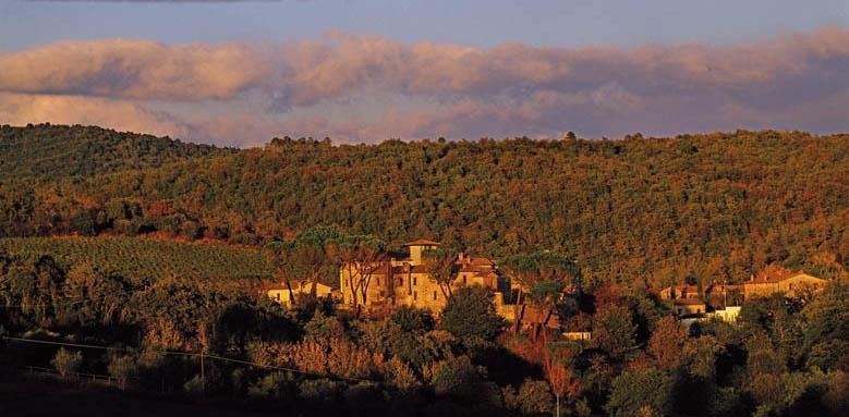 Castel Monastero, distant view