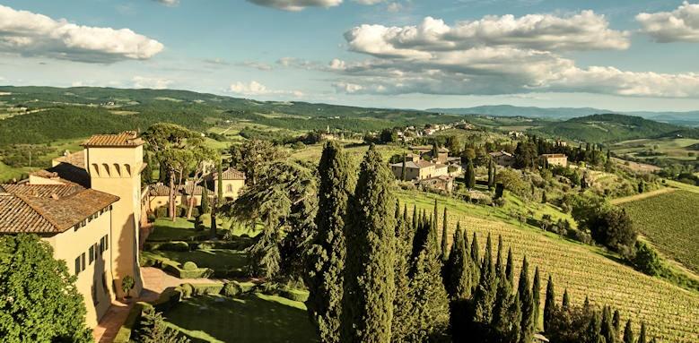 Castello del Nero, tuscan landscape