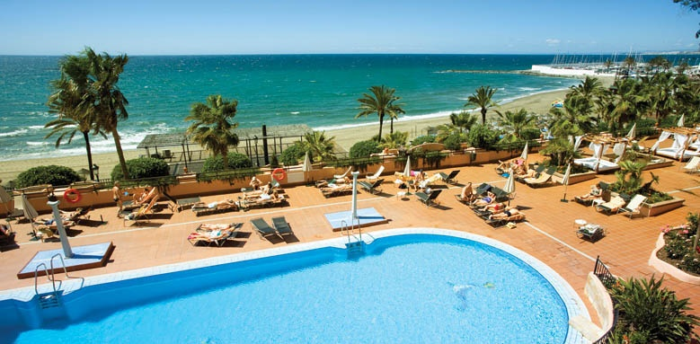 Hotel Fuerte Marbella, pool and sea view