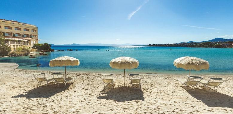 gabbiano azzurro, private beach
