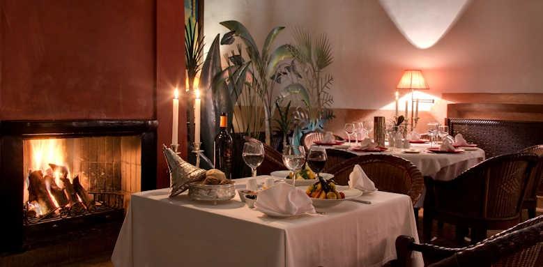Les Jardins de la medina, restaurant indoor area