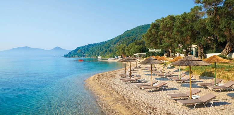 Marbella Corfu, Beach and Sun Loungers