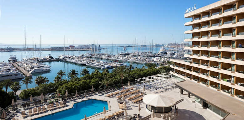 Melia Palma Bay, view from hotel