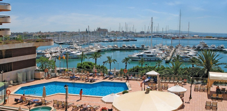 Melia Palas Atenea, pool and harbour