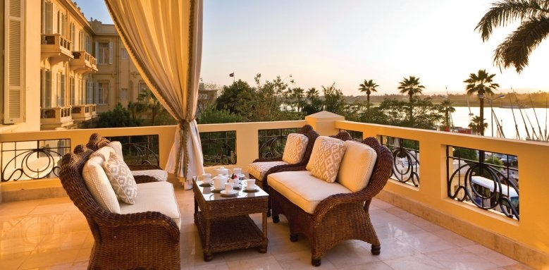 Sofitel Luxor Winter Palace, royal suite terrace