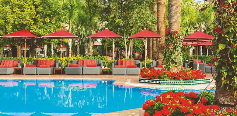 sofitel marrakech palais imperial, pool area