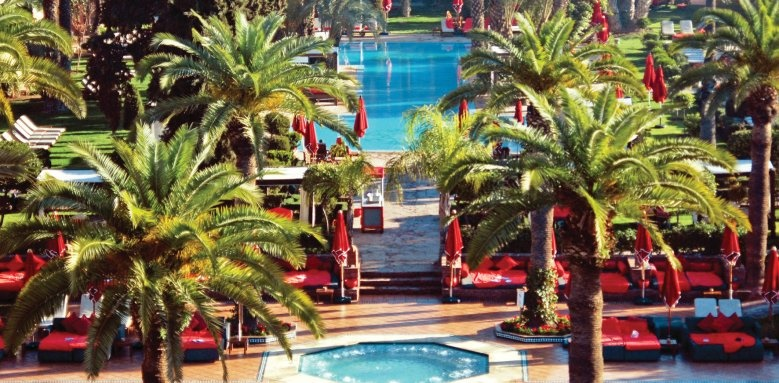 sofitel marrakech palais imperial, pool and gardens