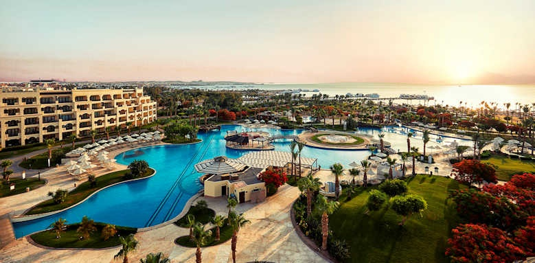 Steigenberger Al Dau Beach Hotel, Aerial view of hotel