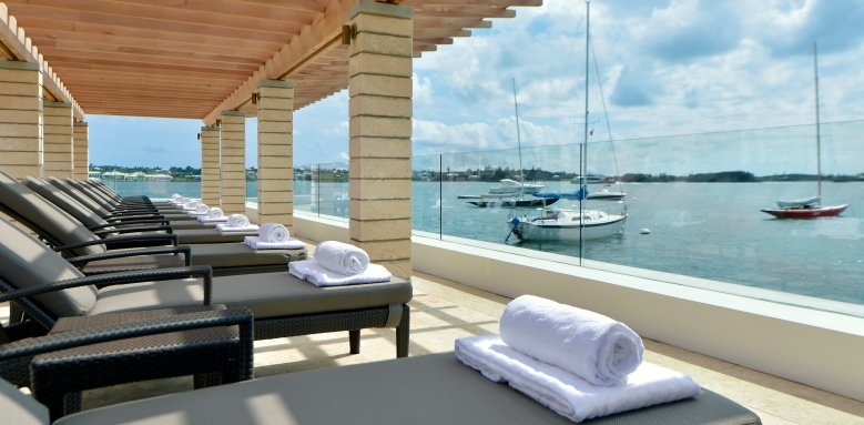 Hamilton Princess & Beach Club, harbour view terrace
