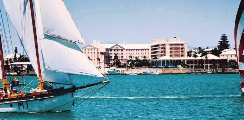 Hamilton Princess & Beach Club, exterior from harbour
