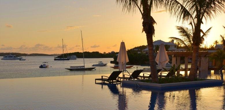 Hamilton Princess & Beach Club, harbour at sunset