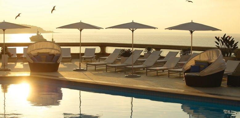 Fairmont Monte Carlo, pool sunset