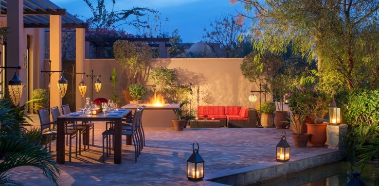 Four Seasons Resort Marrakech, terrace at night