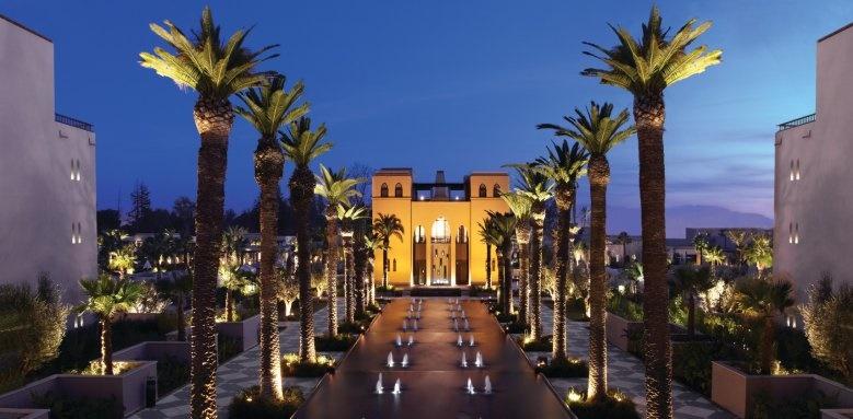 Four Seasons Resort Marrakech, exterior at night