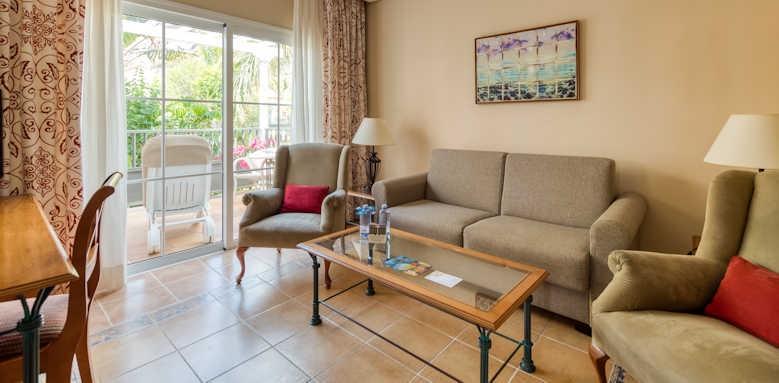 Cordial Mogan Playa, Junior Suite lounge area