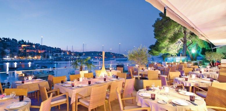Adriana Hvar Marina Hotel & Spa, terrace view