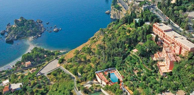 Grand Hotel Miramare, aerial view