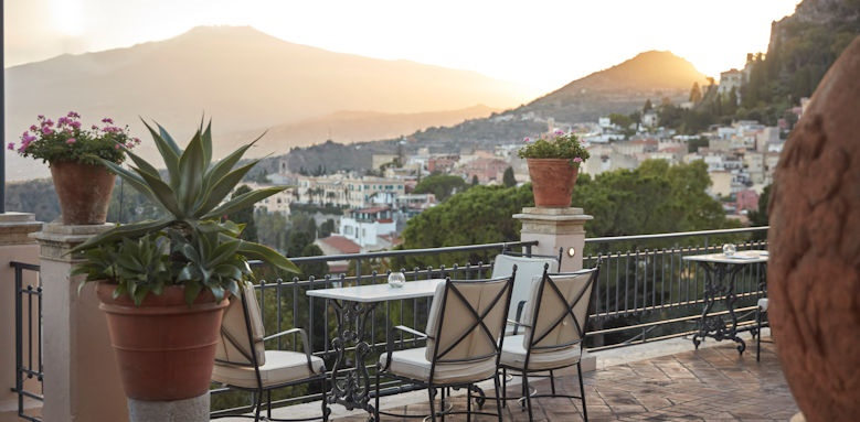 belmond grand hotel timeo, sunset terrace