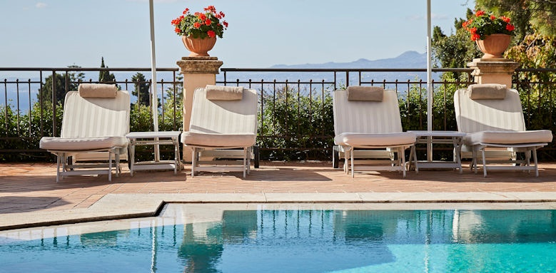 belmond grand hotel timeo, swimming pool loungers
