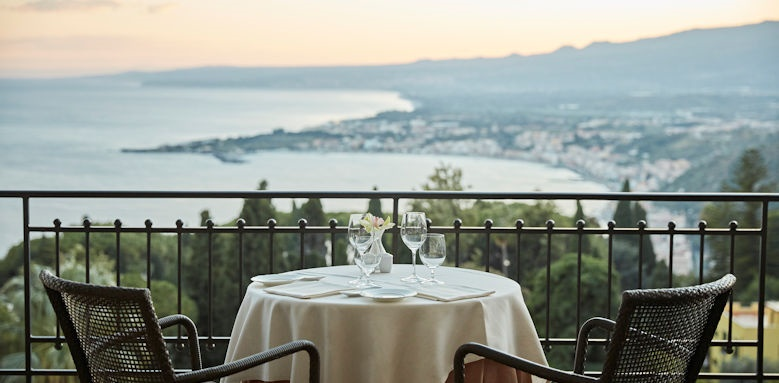 belmond grand hotel timeo, dining view