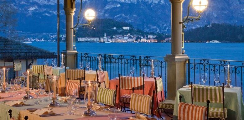 Grand Hotel Tremezzo, la terraza restaurant