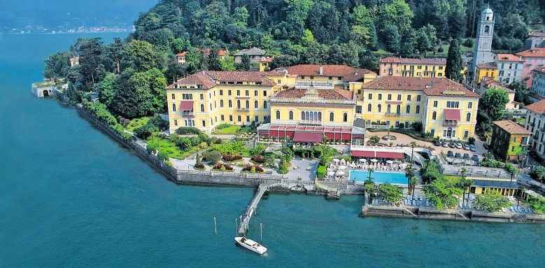 Grand Hotel Villa Serbelloni, aerial view