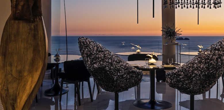 Hotel Villa Franca, Li Galli restaurant at sunset