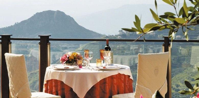 Hotel Villa Sonia, dining terrace