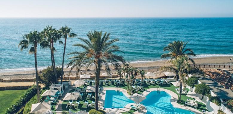 iberostar marbella coral beach, view of pool and beach