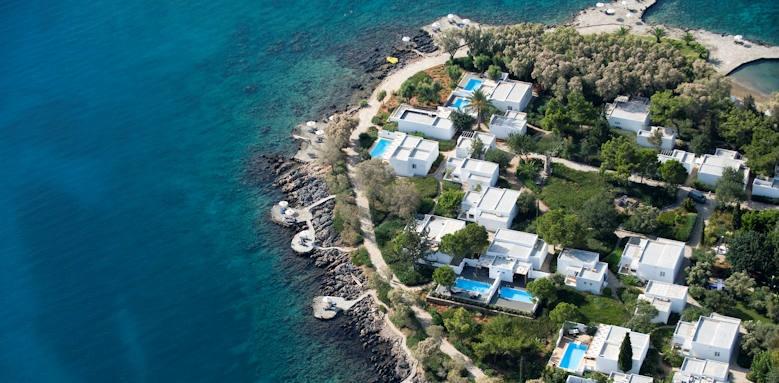 Minos beach, aerial