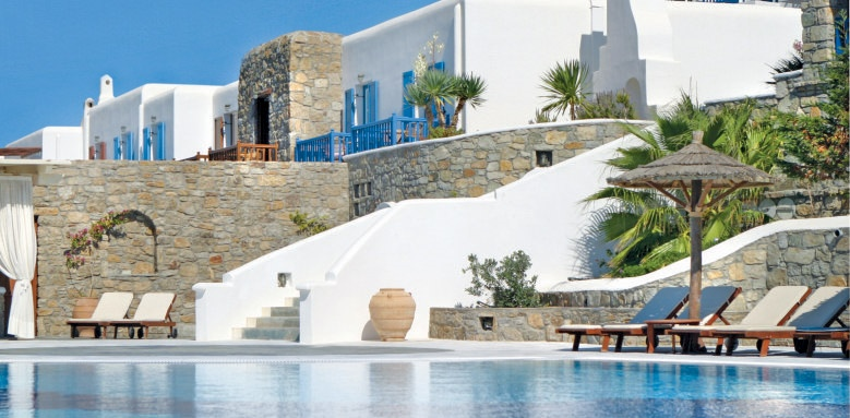 Mykonos Grand Hotel & Resort, poolside